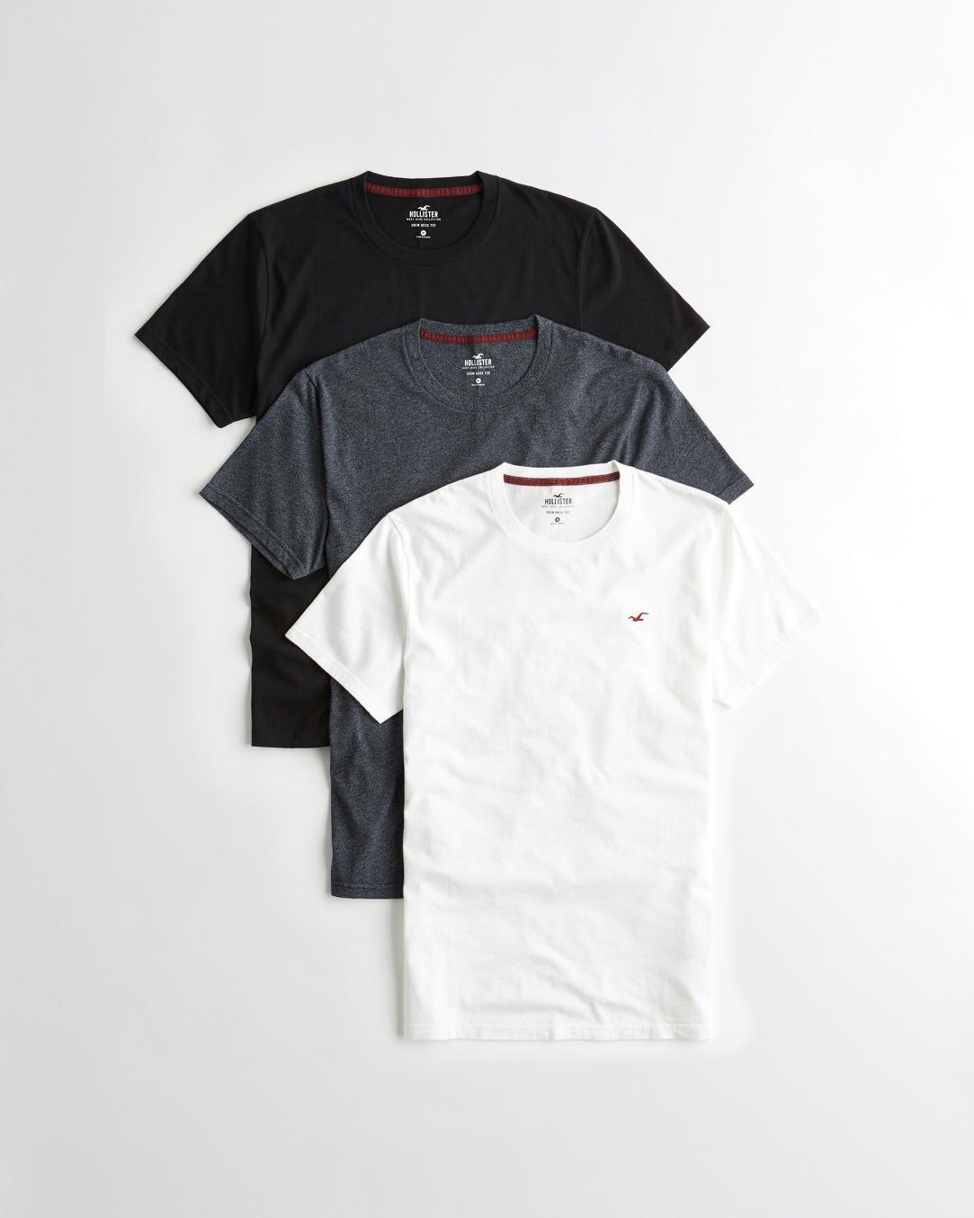 Hollister basic póló szett - környakú (L) - Men s Shop webshop 222ebab327