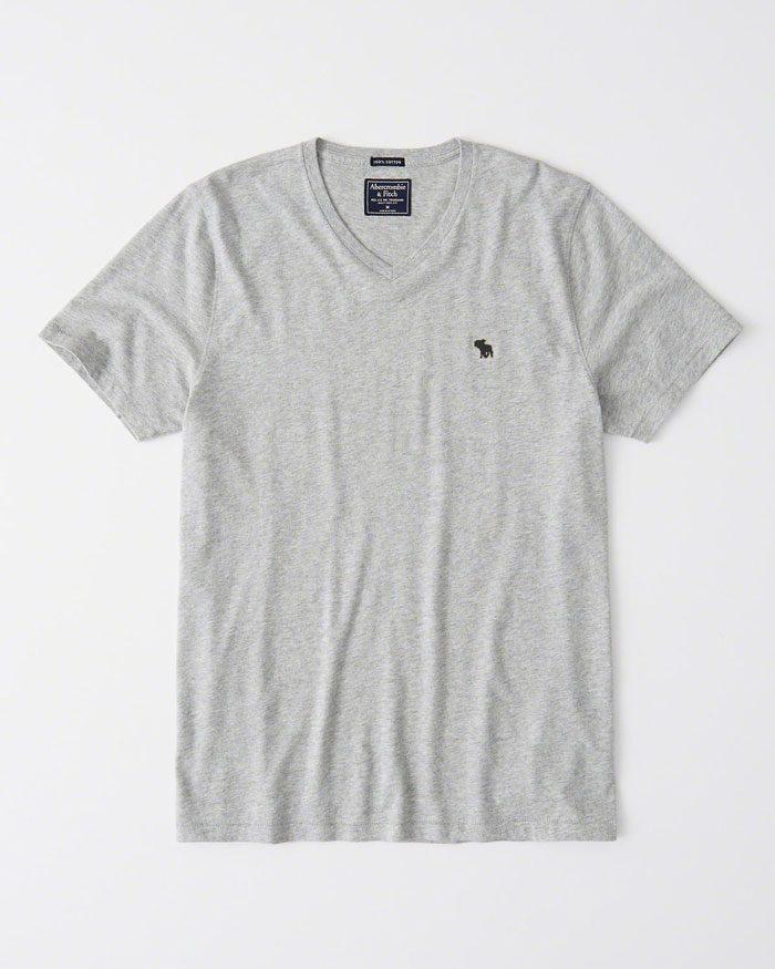 38e89af5a9 ABERCROMBIE póló – V nyakú (L) - Men's Shop webshop